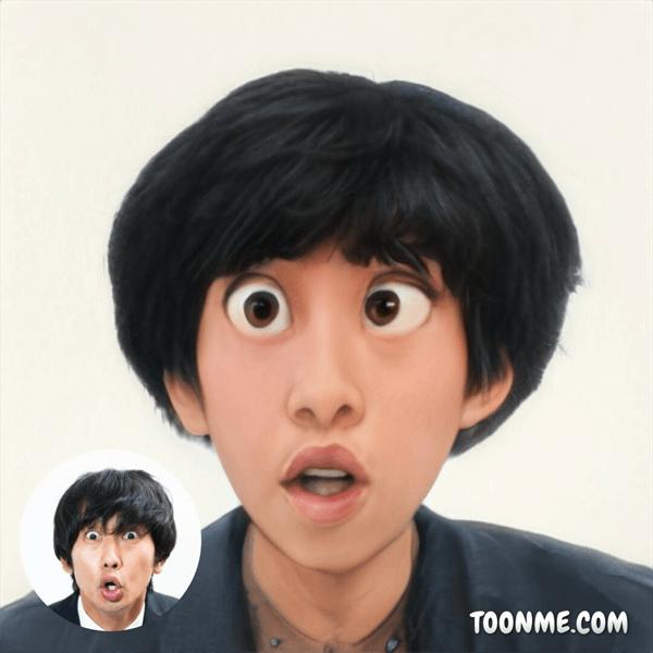 ToonMeで男性をアニメ風に変換