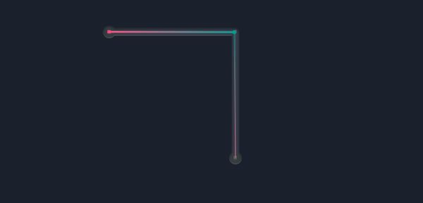 ベジェ曲線の直線